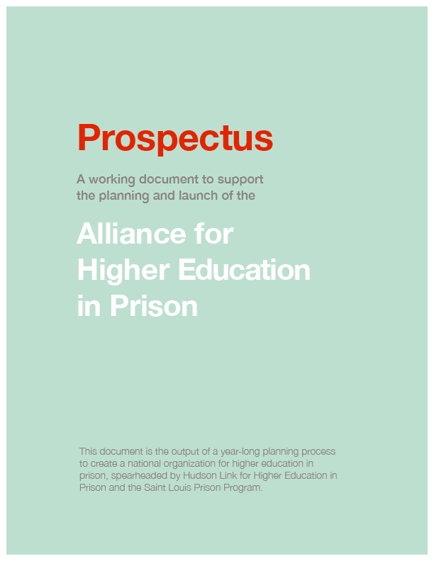Alliance for Higher Education in Prison Prospectus