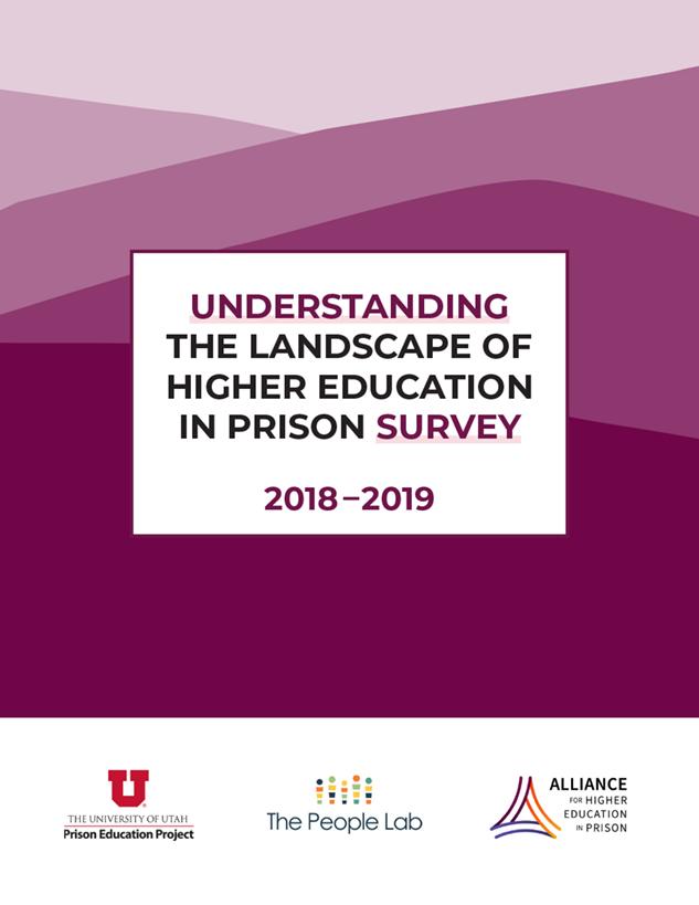 Understanding the Landscape of Higher Education in Prison Survey 2018-2019