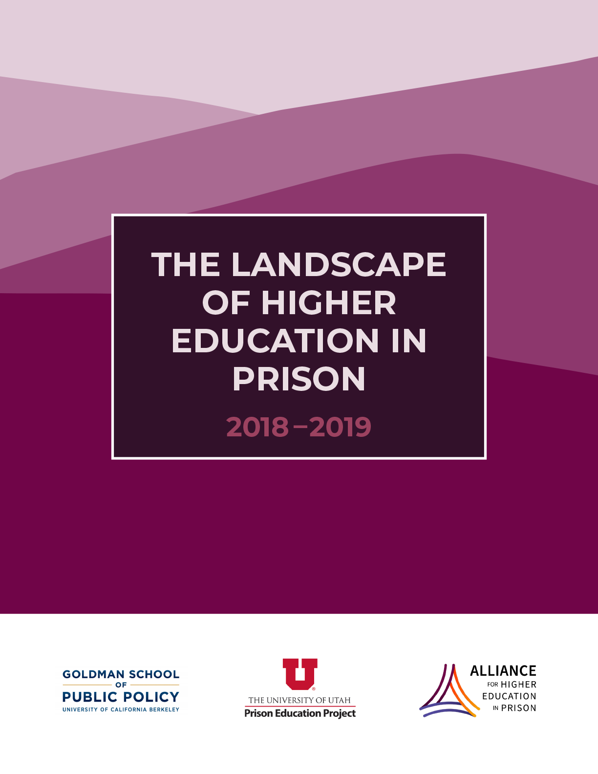 The Landscape of Higher Education in Prison 2019-2019 (a report cover)