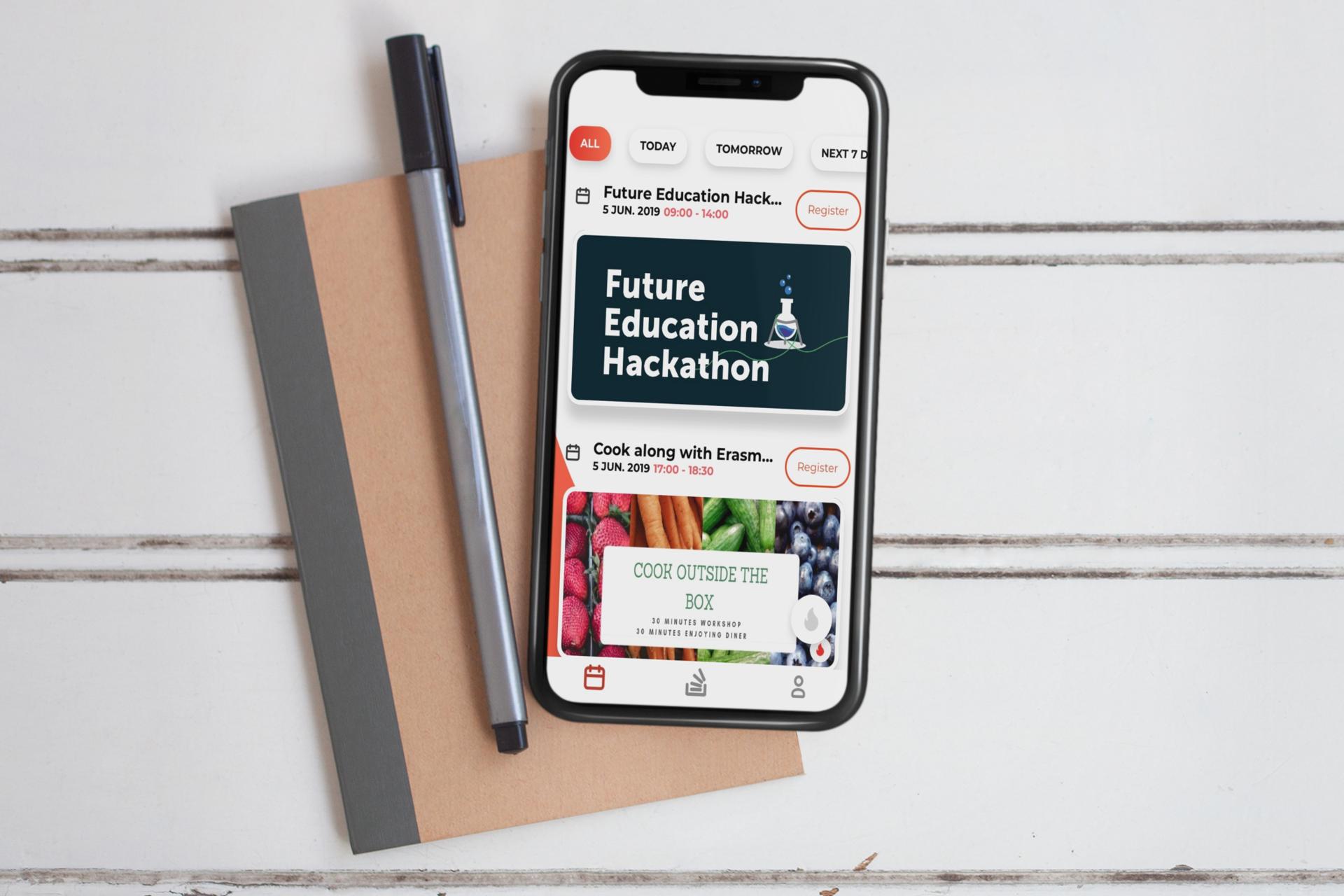 Ein Screenshot der mobilen Uni-Life-App