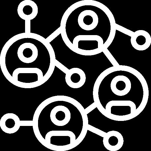 Ein verbundenes Netzwerk von Menschen