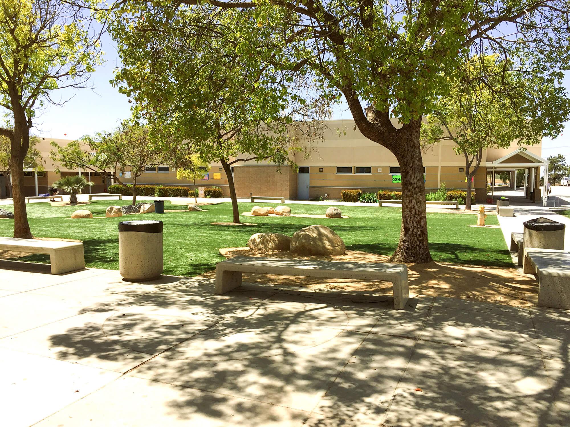 EastLake Highschool common area with turf