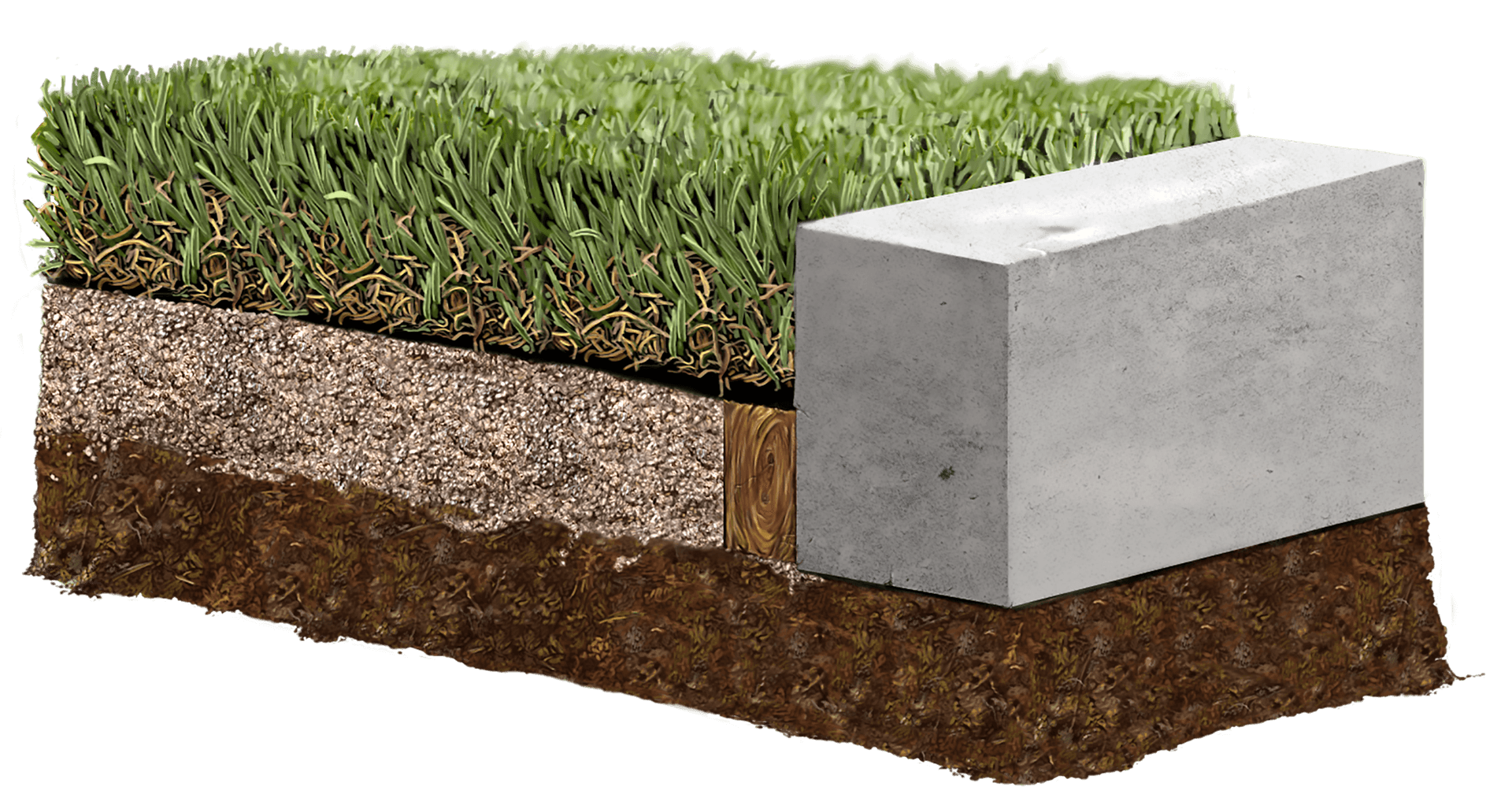 Cutout of artificial turf