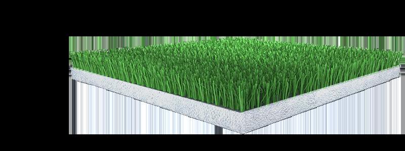 Cutout of artificial turf