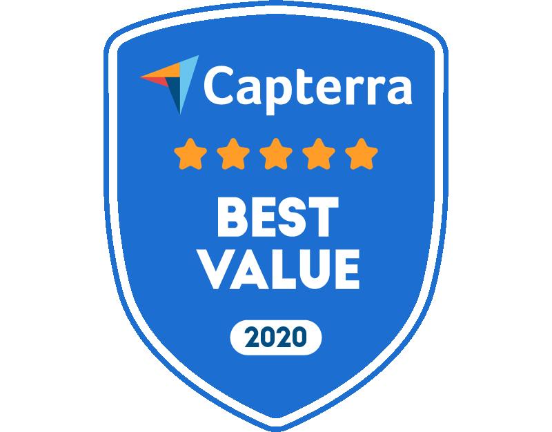 Tovuti Capterra Best Value 2020