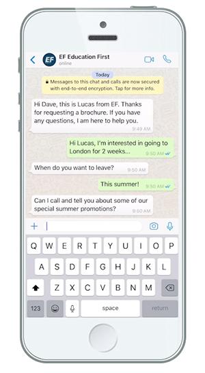 whatsapp corporativo herramientas marketing EF