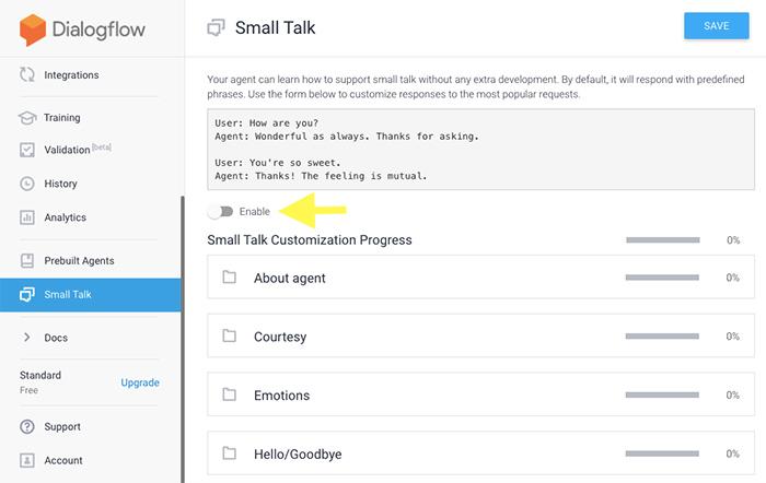 small-talk-in-dialogflow