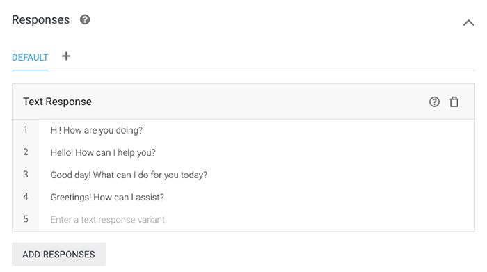 chatbot-using-dialogflow-responses