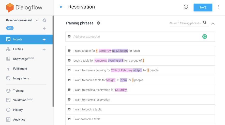 dialogflow-chatbot-example-training-phrases