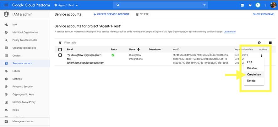 download-agent-json-key-from-dialogflow