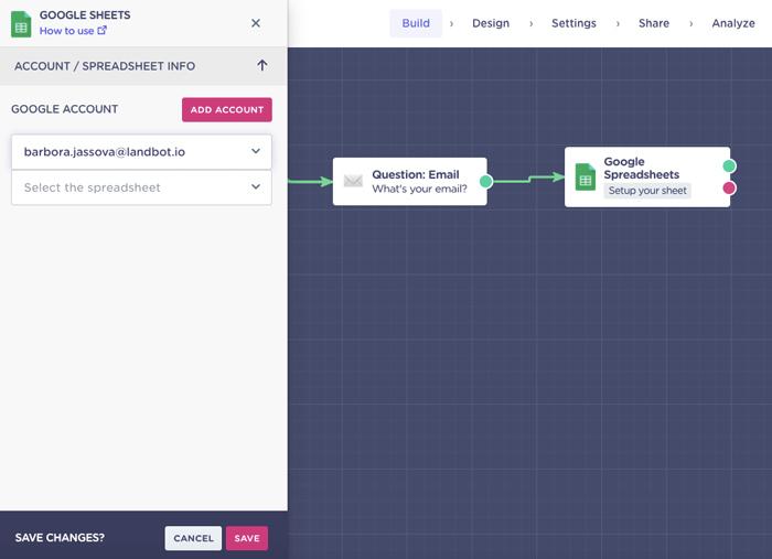 google-sheet-integration-set-up-inside-chatbot