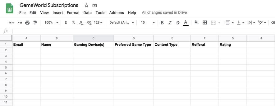 google-spreadsheet-integration