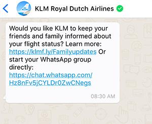 whatsapp-viajes-chat-grupo-klm