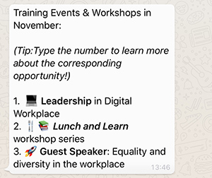 workshop-training-opportunities-notifications-via-whatsapp