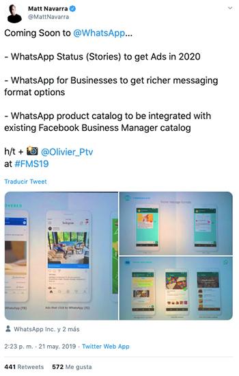 publicidad-en-whatsapp-navarra-tweet