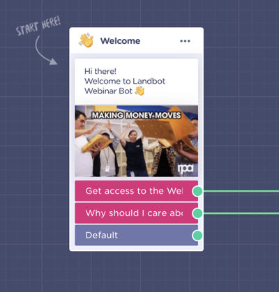 webinar-acquisition-bot-welcome-message