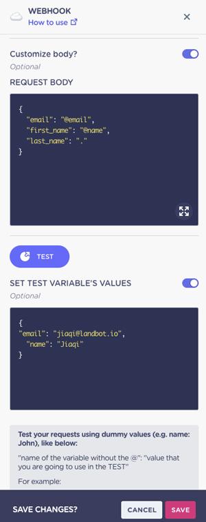 test-webhook-setup