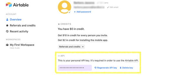 airtable-account-api-key-generation