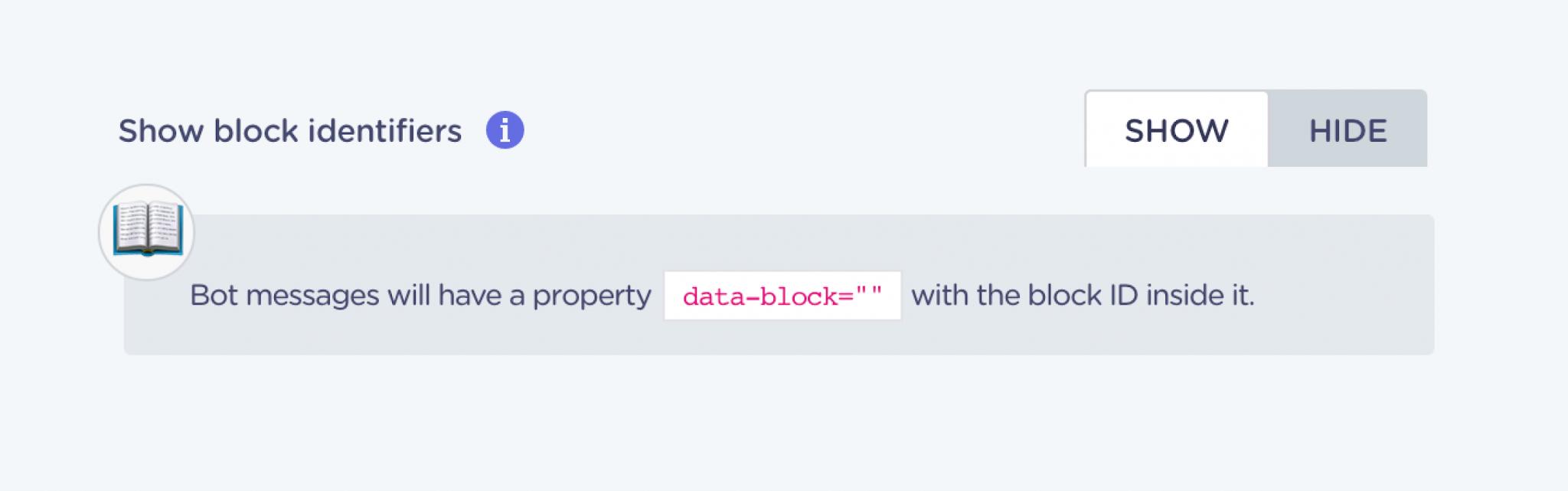 landbot v3 feature block ID identifier