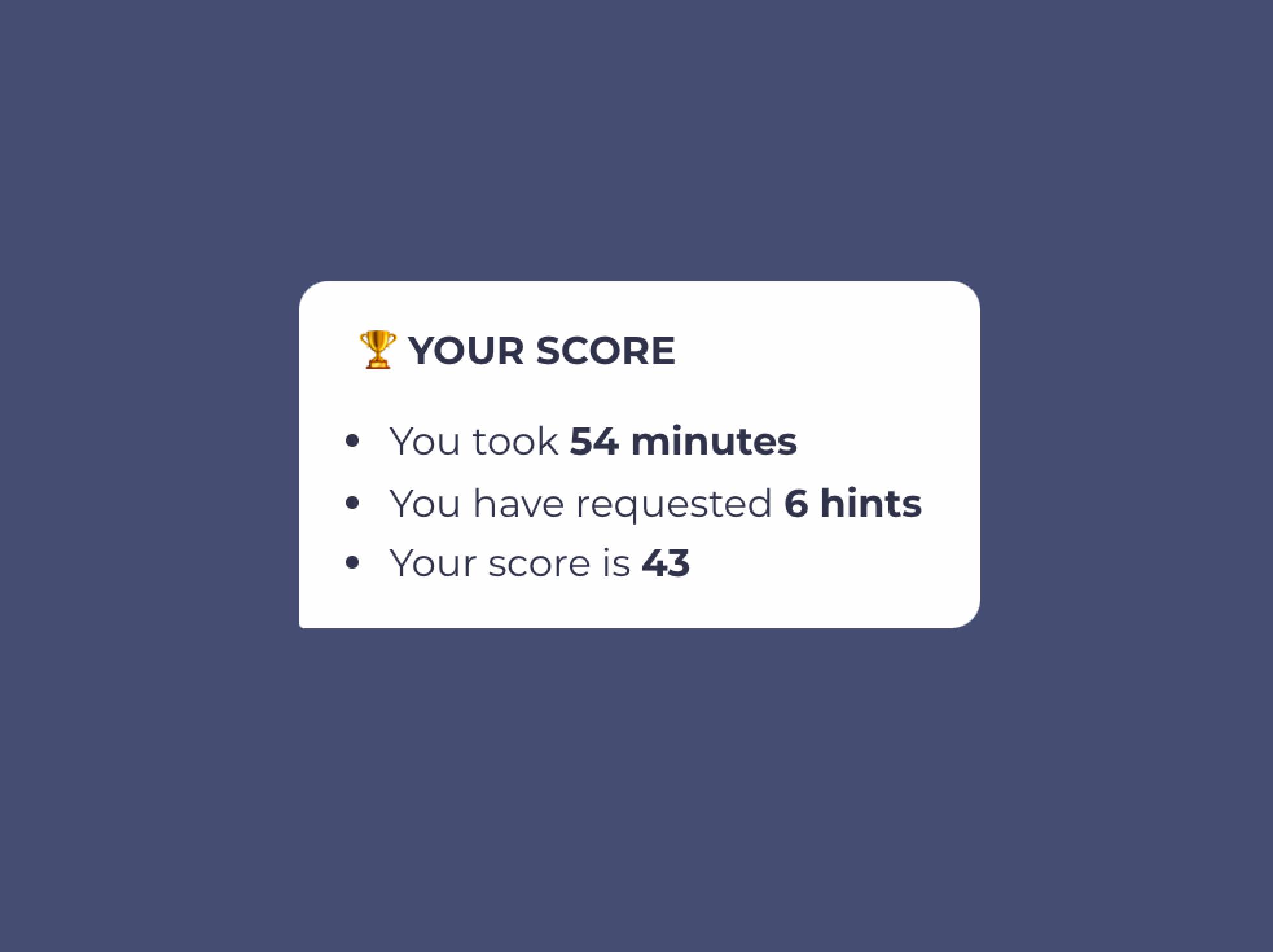 chatbot escape room final score