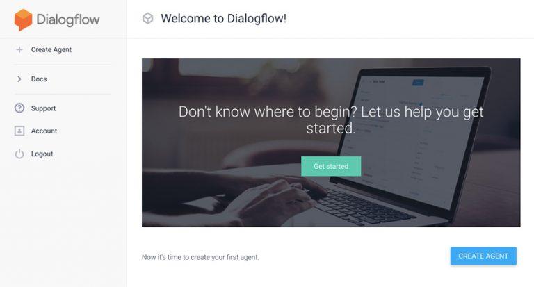 create dialogflow agent