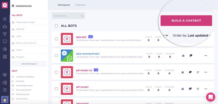 build-conversational-app-with-landbot