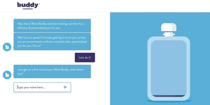 conversational landing pages example