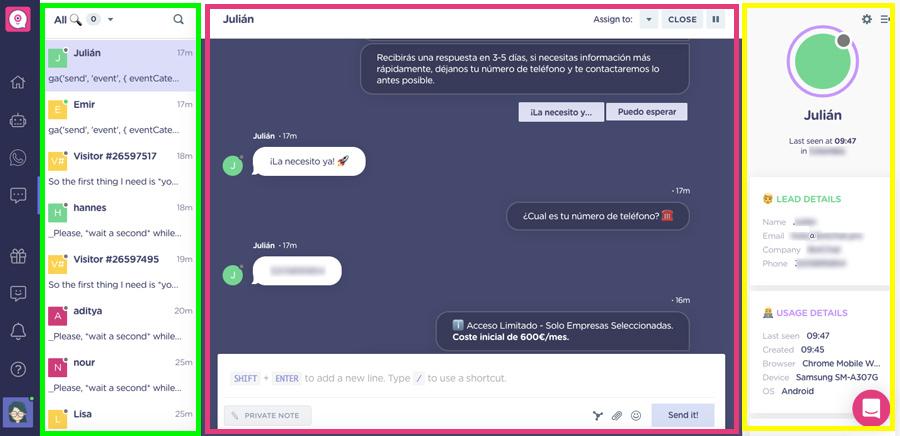 landbot app chat manager