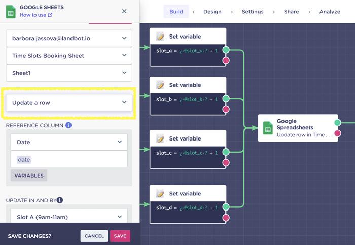 booking-chatbot-google-sheet-integration-update-data