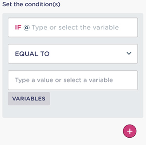 Learn how to apply conditional logic to your dialogue flow.