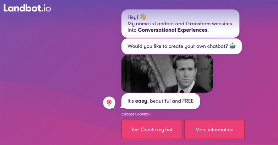 landbot-conversational-interface-example
