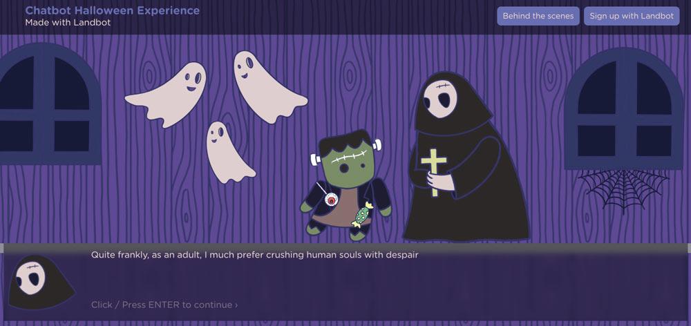 landbot-chatbot-halloween-experience