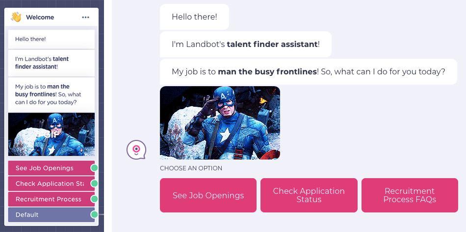conversational job application form