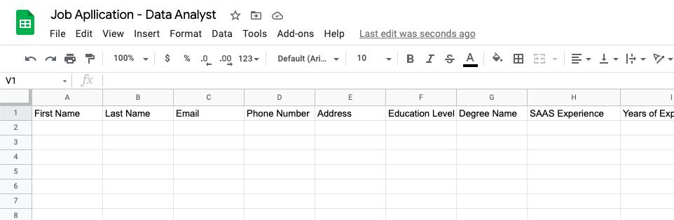 google sheet database