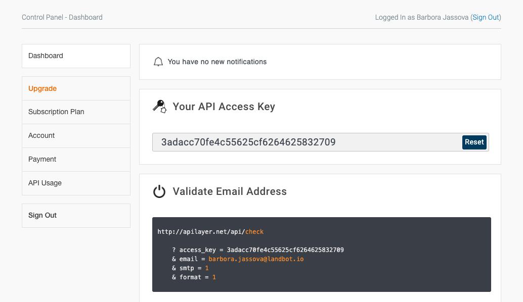 email verification api
