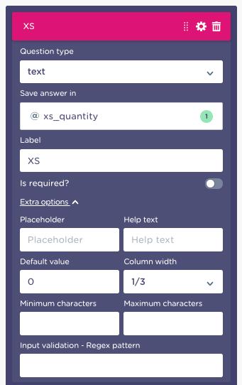 multi question block setup