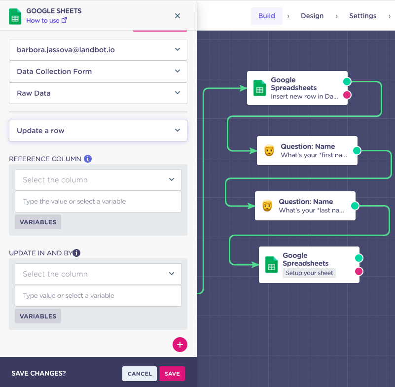 data export from conversational form
