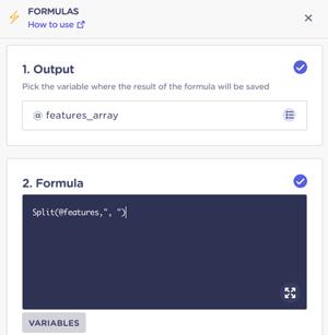 split-formula