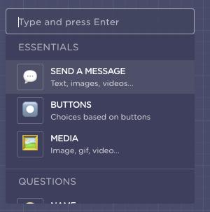 send a message landbot chatbot builder