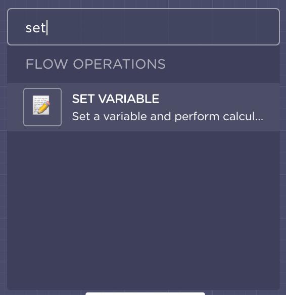 set a variable landbot