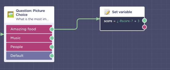 chatbot quiz score