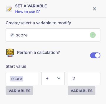 set quiz score