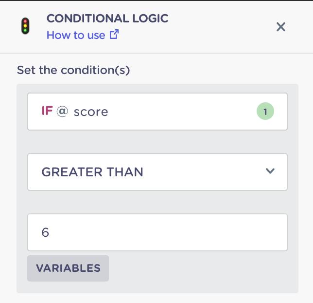 setup conditional logic