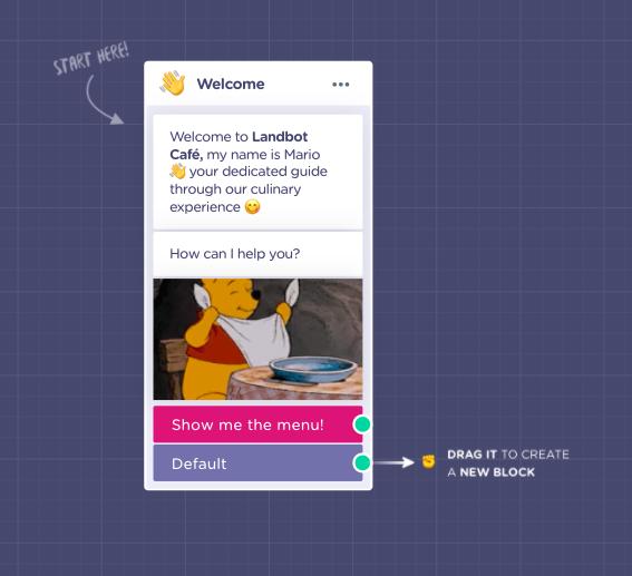 restaurant chatbot welcome message