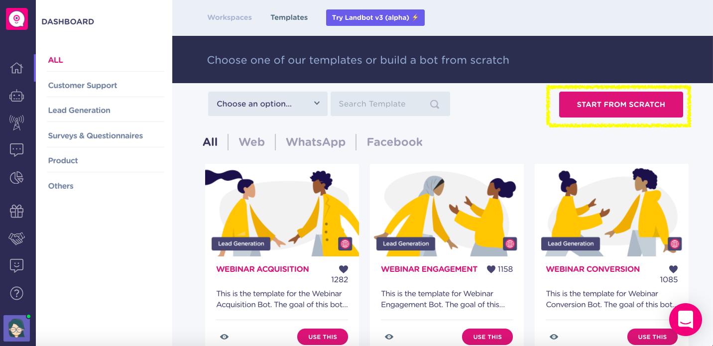 build menu chatbot from scratch