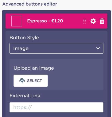 buttons block advanced editor