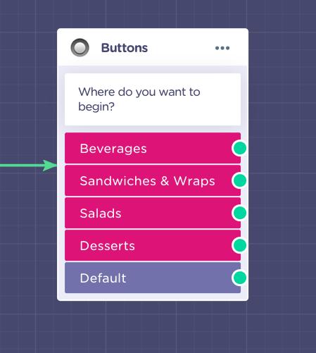 button choice menu chatbot