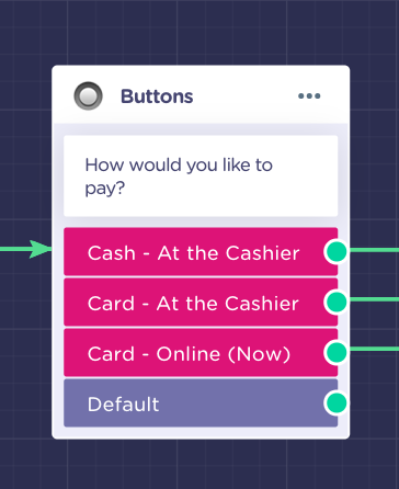 payment preference menu bot
