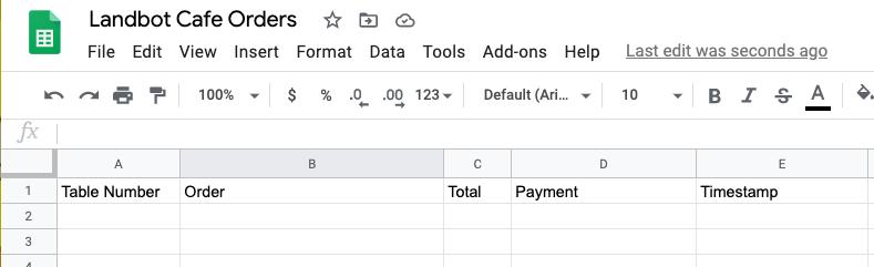create google spreadsheet