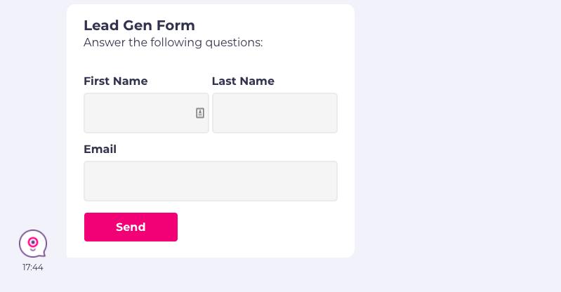 multi question form landbot
